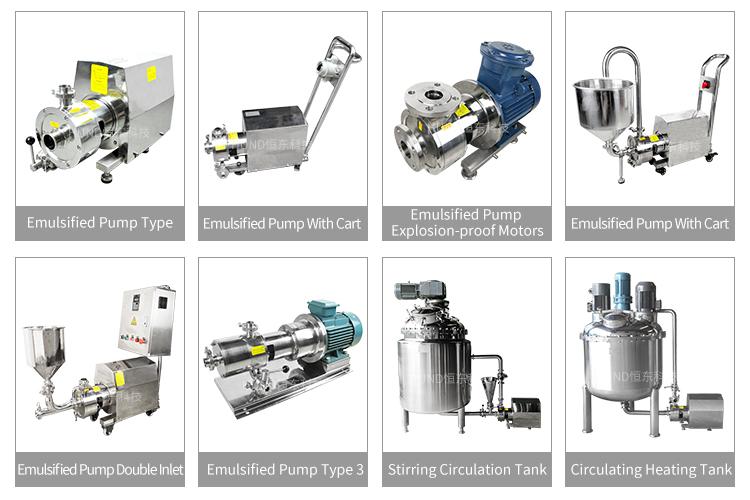 Mỹ phẩm đường ống tốc độ cao đồng hóa cao cắt chất nhũ hóa máy trộn