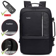 Дорожный 17-дюймовый рюкзак для ноутбука для мужчин и женщин, мужская сумка 15,6, ноутбук с USB зарядкой, рюкзак для улицы, бизнес-рюкзак для бага...(Китай)