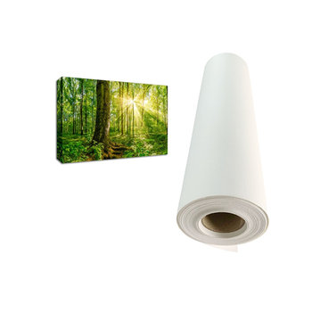High Quality 330gsm 100% Polyester Inkjet Canvas, Wide Format 44 Inch Inkjet Canvas Roll