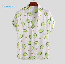 Man Linnen Korte Mouwen Button Up <span class=keywords><strong>Shirt</strong></span> Custom Over Grappige Avocado Gedrukt Loose Fit <span class=keywords><strong>Shirt</strong></span>
