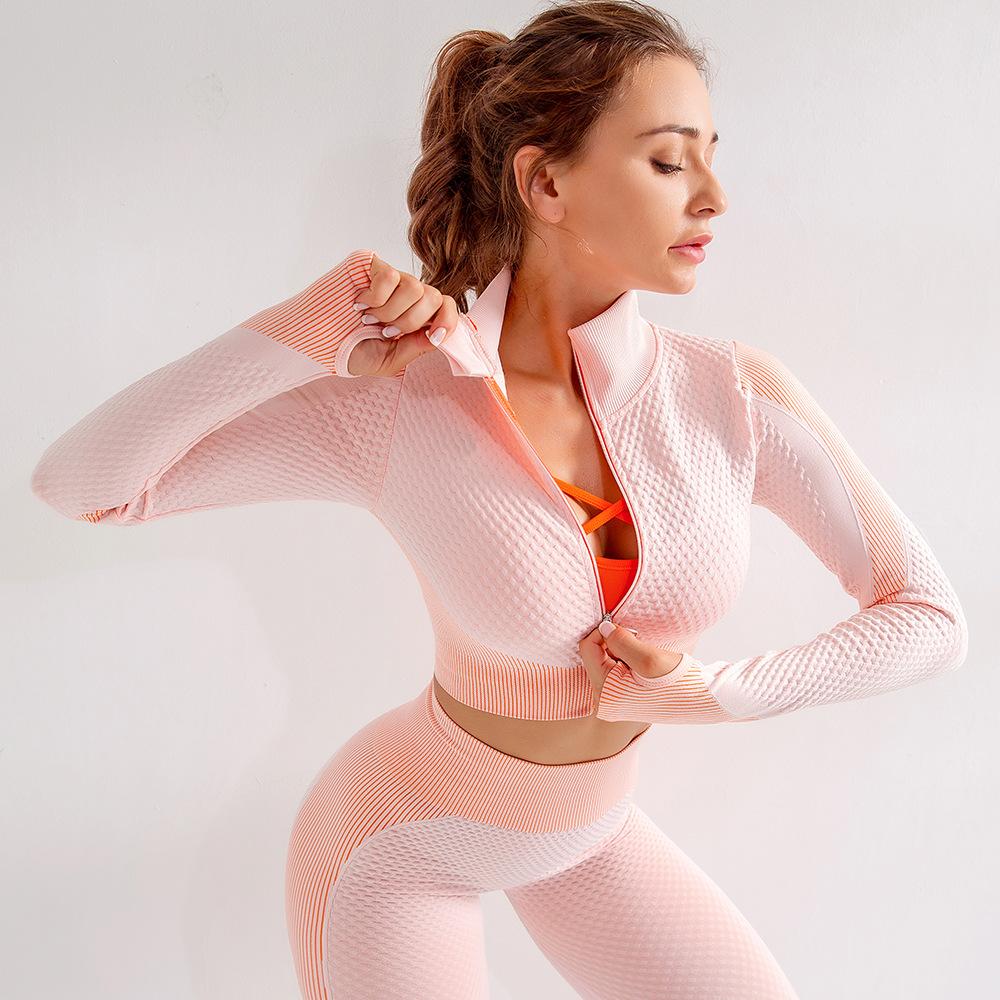 Winter Wear Fitness Flexible Gym Training Activewear Women Long Sleeve Shirts Sport Wear 4