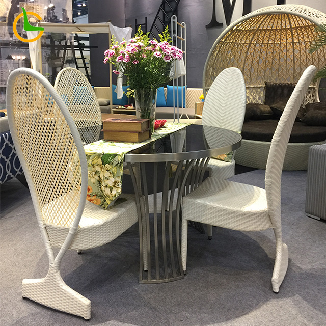 Foshan wholesale One Stop Service modern italian design outdoor restaurant hotel rattan dining chair(accept customized)