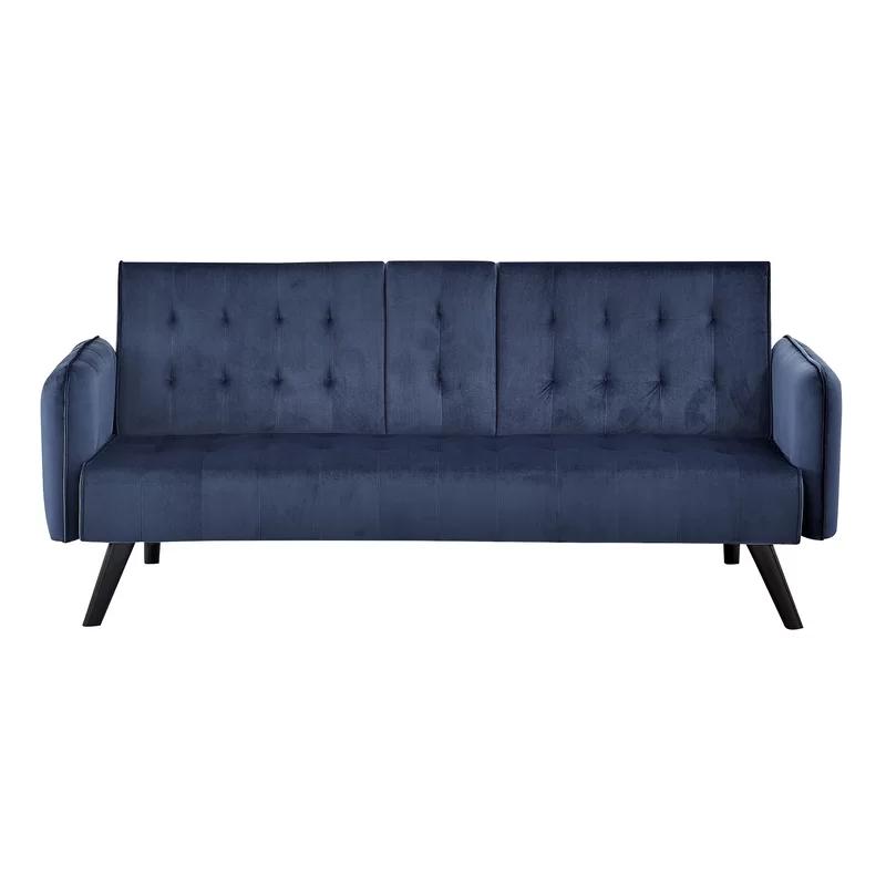 Mavi kumaş çekyat Futon kanepeler