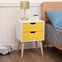 New modern design night stand wood KD knock down high quality cheap bedside cabinet night stand side table with drawers