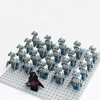 Star sw331 Wars Wolfpack Clone Trooper Compatible Legoe 7964 mini figures building brick Model Toy Kids Gift