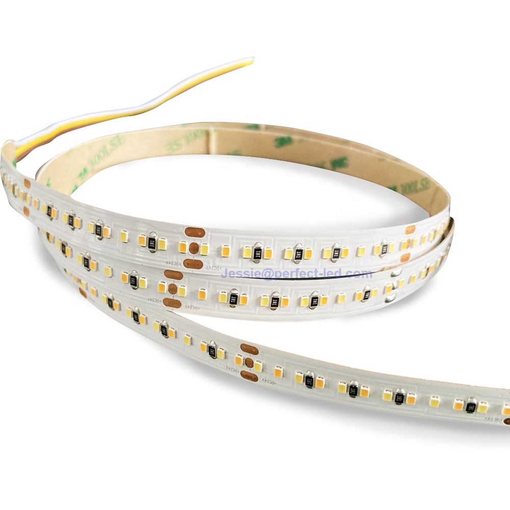 2216 Warm white+Nautral White Variable <strong>Color</strong> LED Strip 2 Mix <strong>Color</strong> 2216 LED Strip <strong>Lighting</strong> Dual <strong>Color</strong> CCT