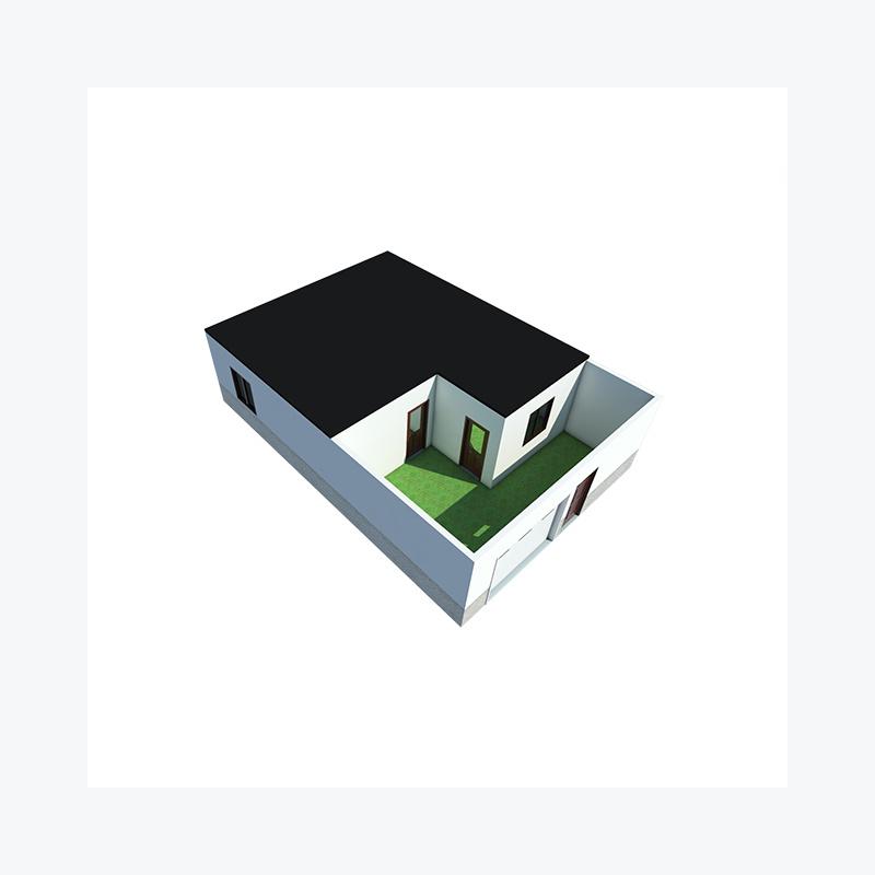Полностью меблированные солнечные сборные стальные дома