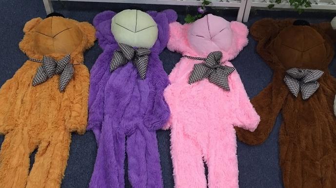 6 feet unfilled animal covers unstuffed plush teddy bear skins wholesale