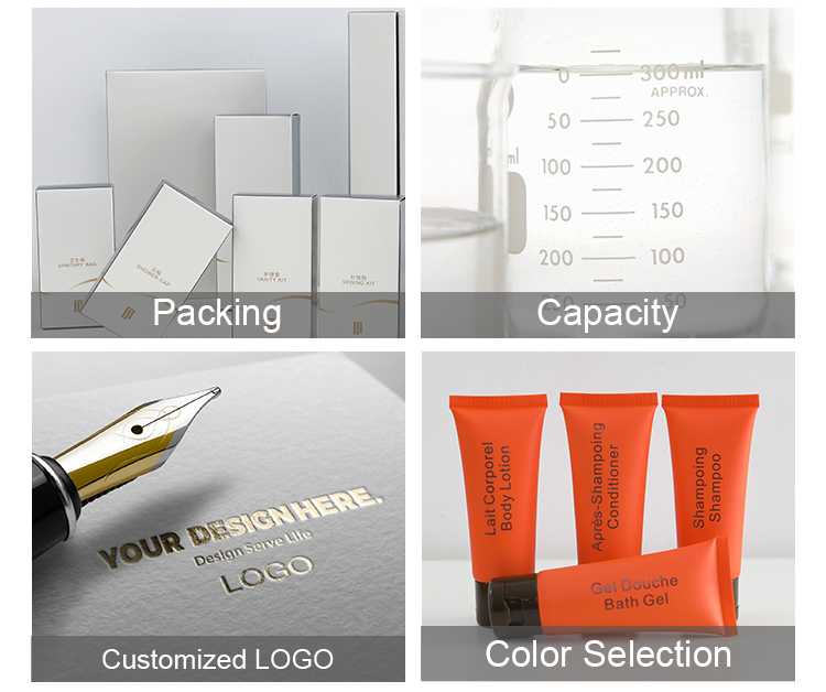 Fábrica de baño al por mayor de lujo de baño conjuntos desechable personalizado hotel de baño kit de aseo