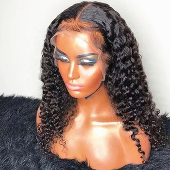Curly Human Hair Full Lace Wig With Baby Hair Supplier Natural Brazilian Hair Wig Virgin Glueless HD Lace Wig Overnight Delivery