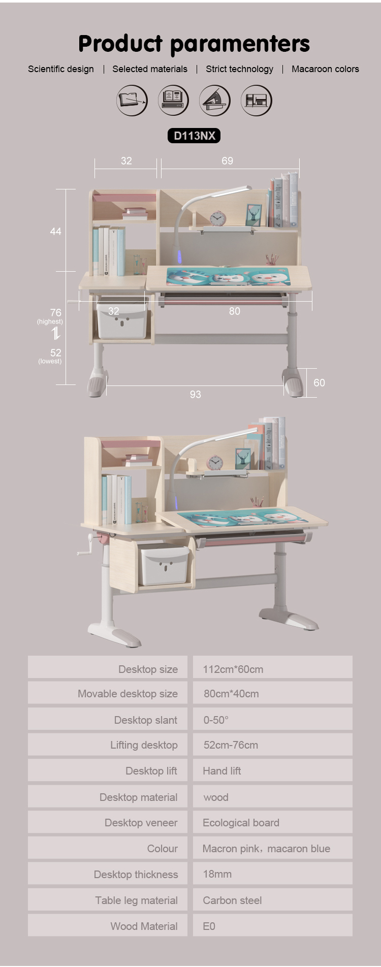 IGROW children furniture sets study table child table and chair set