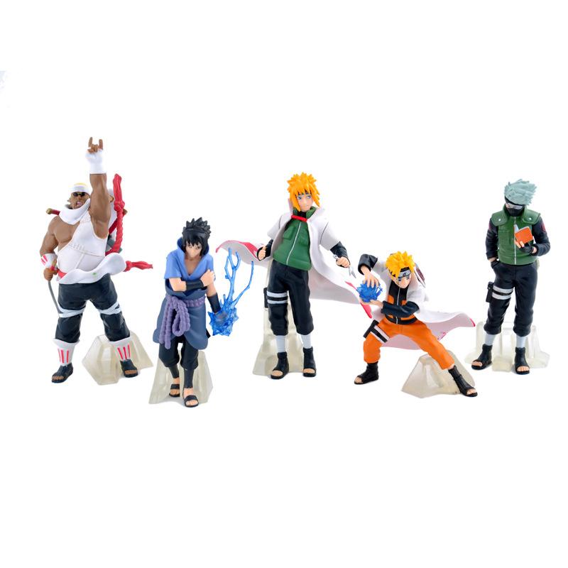 新しいアニメナルトpvcフィギュアセット、ベースおもちゃ (5個)