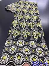 NIAI африканская кружевная ткань, 100% хлопок, 2020, Высококачественная швейцарская кружевная ткань с вышивкой, швейцарская вуаль, кружевная ткан...(Китай)