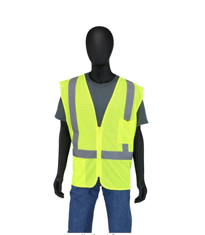 Customized High Visibility Reflective Mesh Safety Vest - KingCare   KingCare.net