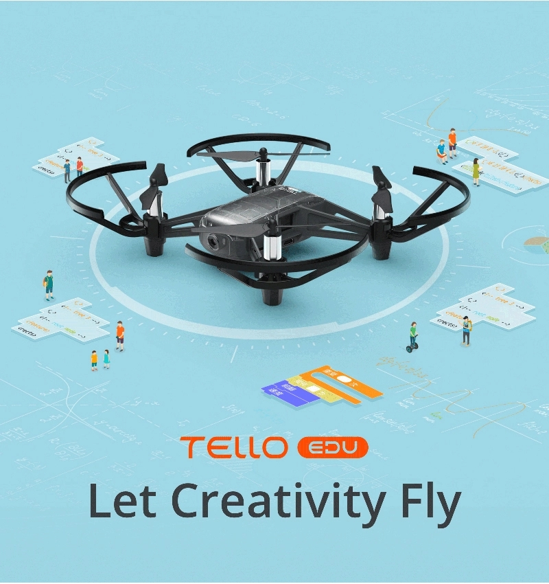 Tello Drone Set with Mini Drone Full HD 720P Camera, RC Toy of education