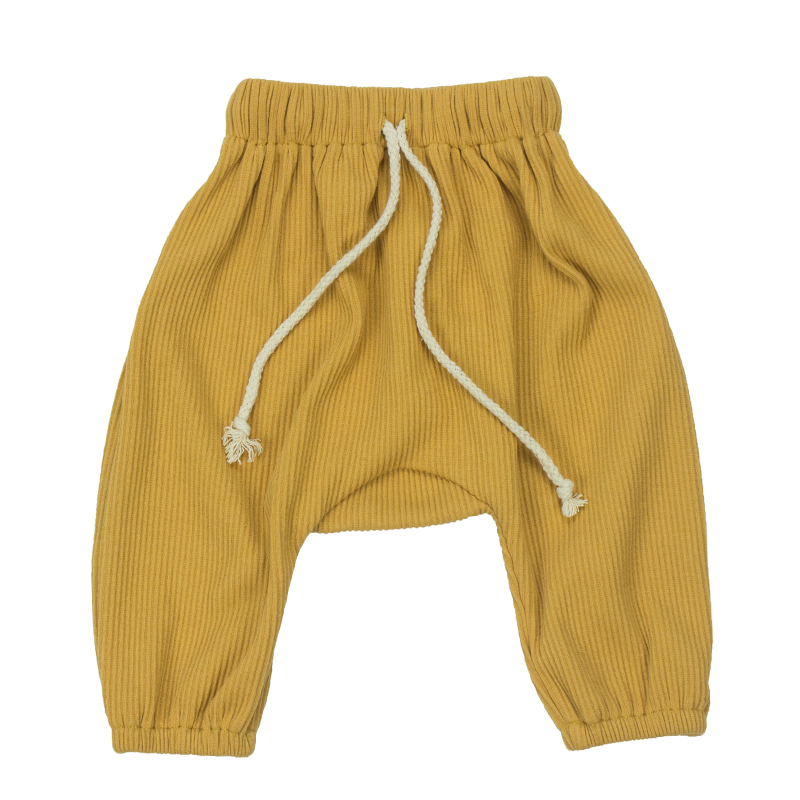 Spring and winter children pure cotton long China boys and girls Ribbed cotton pants baby warm trousers