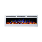 Black Electric Electric White Electric Fireplace 2020 New 50 Inch White And Black Wall Mounted/Build-in Electric Fireplace
