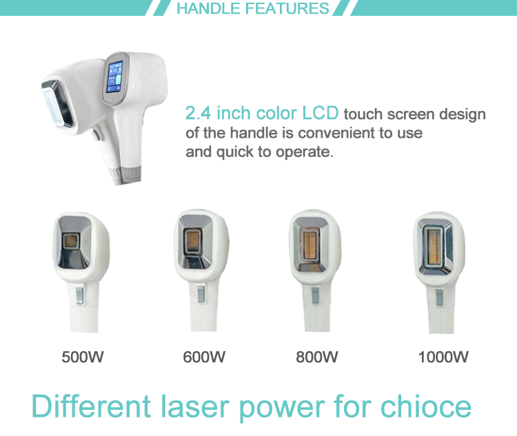 Three wavelenghts diode laser 755 808 1064 for hair removal