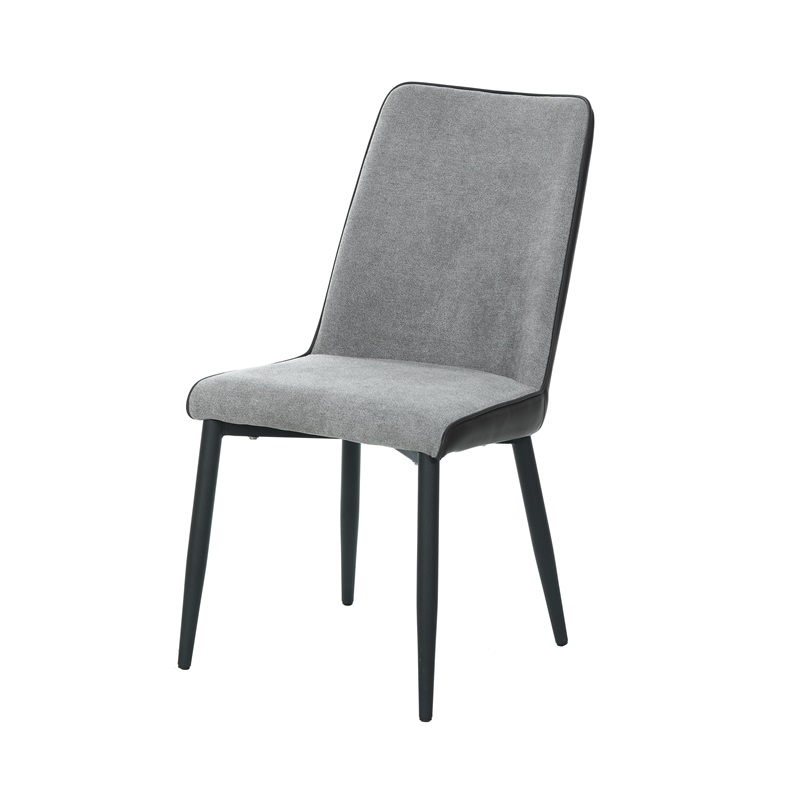 2020 popular custom luxury home furniture modern Italian design comfortable upholstered chair PU+fabric dining chair