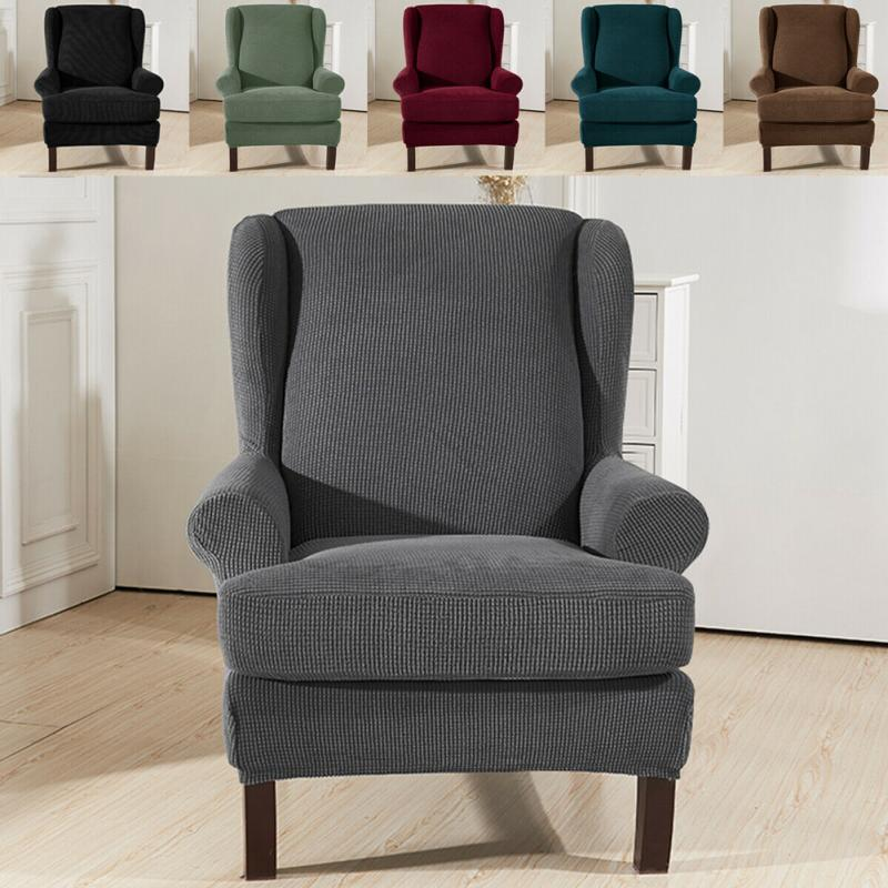Astounding Sloping Arm King Back Chair Cover Elastic Armchair Wingback Wing Sofa Back Chair Cover Stretch Protector Slipcover Protector Pdpeps Interior Chair Design Pdpepsorg