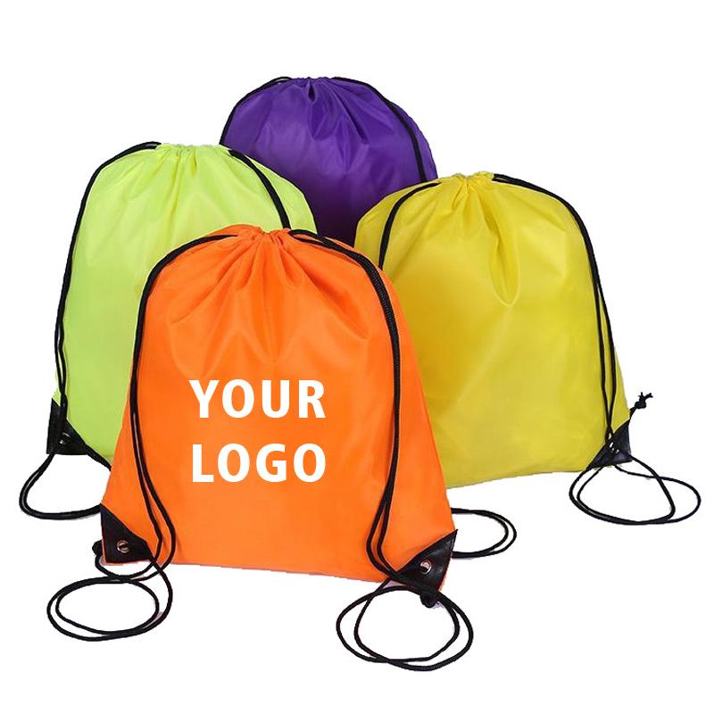 Personalizado bolsa de gimnasio 100% Cadena de poliéster mochila