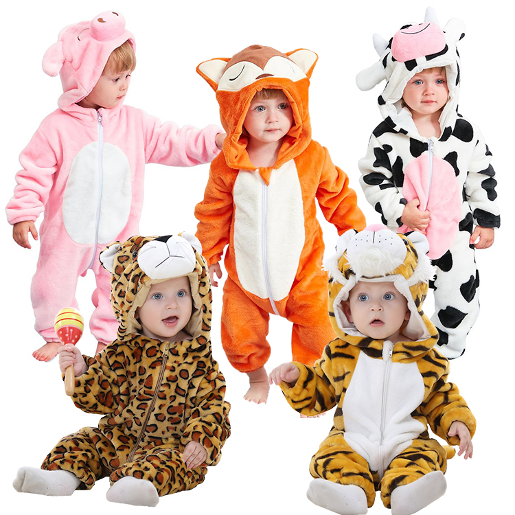 Wholesale thicken flannel <strong>baby</strong> romper costume <strong>baby</strong> clothes kids animal overall winter warm long sleeve <strong>baby</strong> boy rompers <strong>jumpsuit</strong>