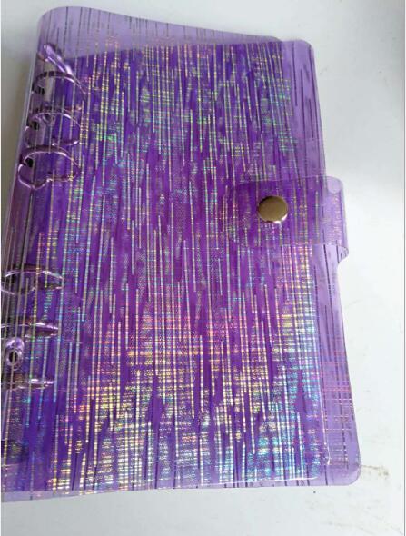New Meteor Shower A5/A6 Glitter Spiral Notebook Cover Rings Binder Loose Leaf Binder for planner filler paper File Folder Book