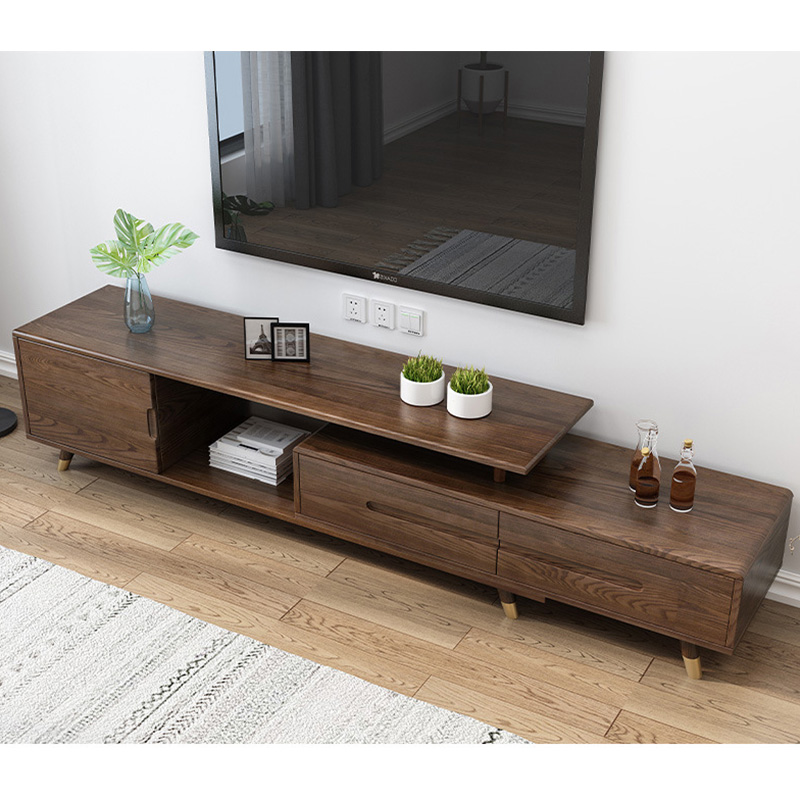 product-BoomDear Wood-Modern wooden tv stand furniture extendable real wood tv cabinet designs for l-2