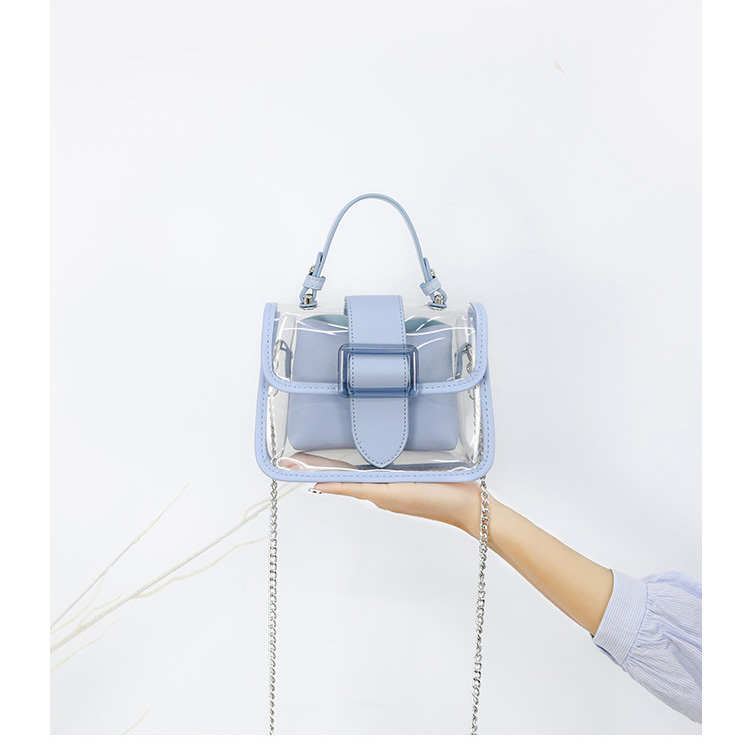 product-GF bags-2020 New Transparent Bag Clear Bag Jelly Bag Handbag Cross-body Bags For Women Ladie-1