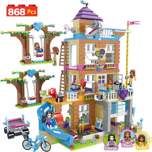 868pcs Building Blocks Girls Friendship House Model Stacking DIY Bricks Compatible LegoINGlys Girls Friends Figures Kids Toys