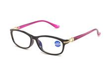 KUJUNY Женский анти-синий светильник очки для чтения женские элегантные блок синий светильник очки для пресбиопии черные очки(Китай)