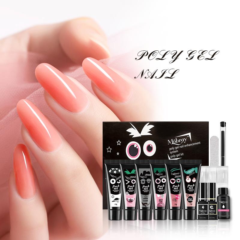 Hot sale 4 different colors 15 g poly gel uv gel kit