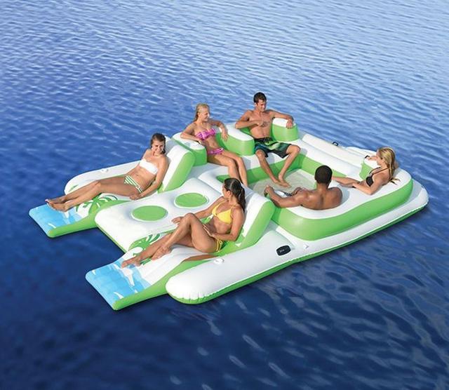 plage parc Waitiee durable imperm/éable /à l/'eau longue gonflable /étanche Lightweight Polyester Air Sofa ext/érieur avec oreiller pour Camping jardin