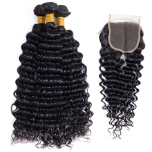 Peruvian Deep Wave 100% Virgin Deep Wave และรวมกลุ่ม Deal Cuticle Aligned ทอผ้า
