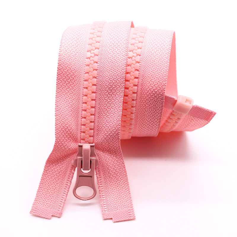 hot sale zipper plastic open end zipper bag for clothing  plastic zipper #5