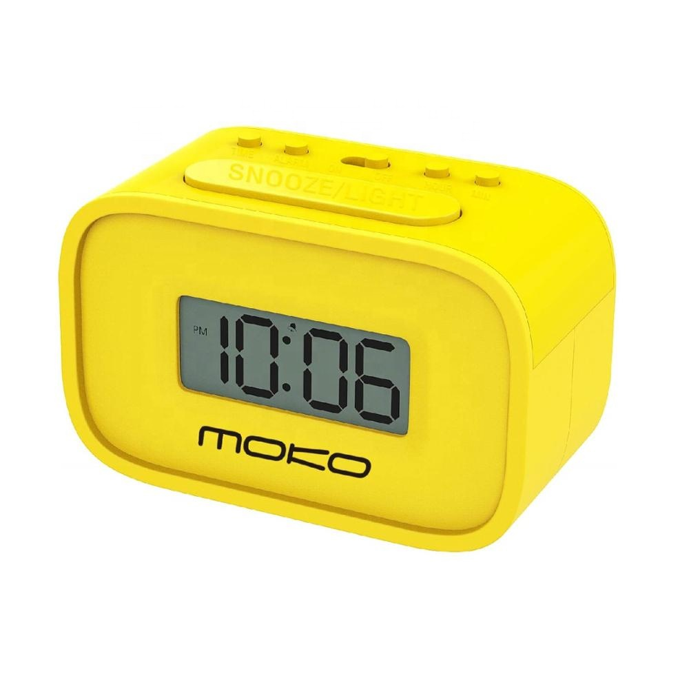 MoKo Wake Up Alarm Mini Clock with Snooze Function/Backlight for Kids Bedroom