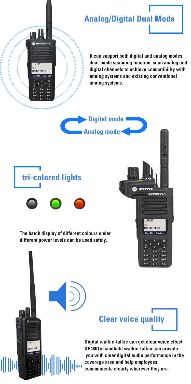 GPS 500 mile Walkie Talkie Motorola Digital DP4801E