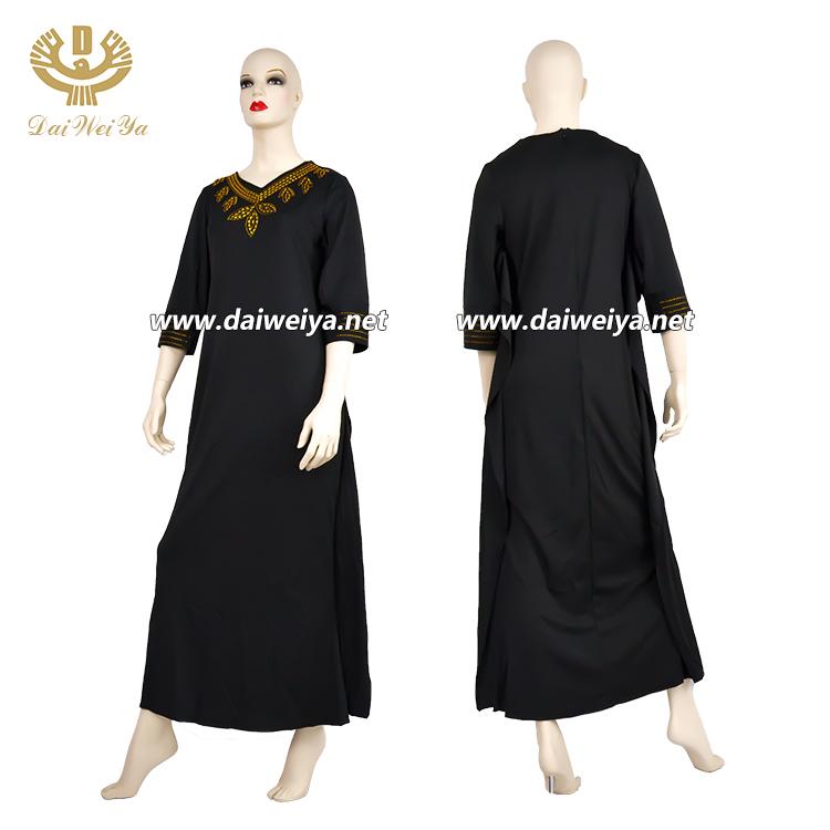 Afrika uzun elbise moda kadın rahat elbise bayan günlük giyim taklidi yarım kollu düz renk