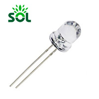 Diffused Light Diodes High Brightness Oval Shape 5mm White LED DIP