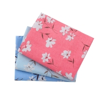 Japanese Floral Design Linen Fabric Sakura Printed DIY Textiles For Home Decoration Handicrafts