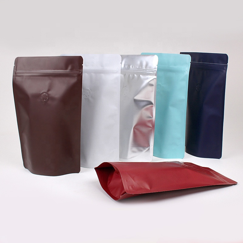 food grade coffee custom printed ziplock plastic stand up pouch packaging bag with valve