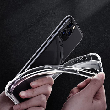 Ultra thin high transparency shock proof crystal clear TPU cell phone case for iphone 11 x xr se 6 7 8 plus