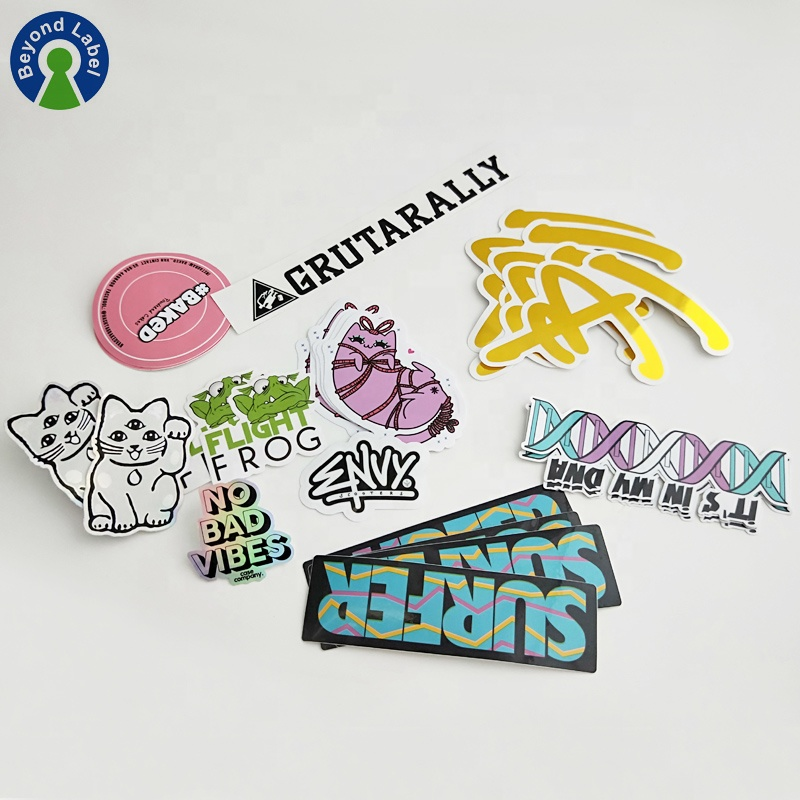 Top Hot Custom Adhesive Vinyl Gestanst Stickers, Printing Merknaam Logo Sticker Label