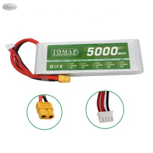 Li-Polymer 3 Cell 65C 130C 5000Mah 2S 7.4V Battery Lipo 80C Lithium Polymer Battery Pack Drone Rc Battery 3S 11.1 V