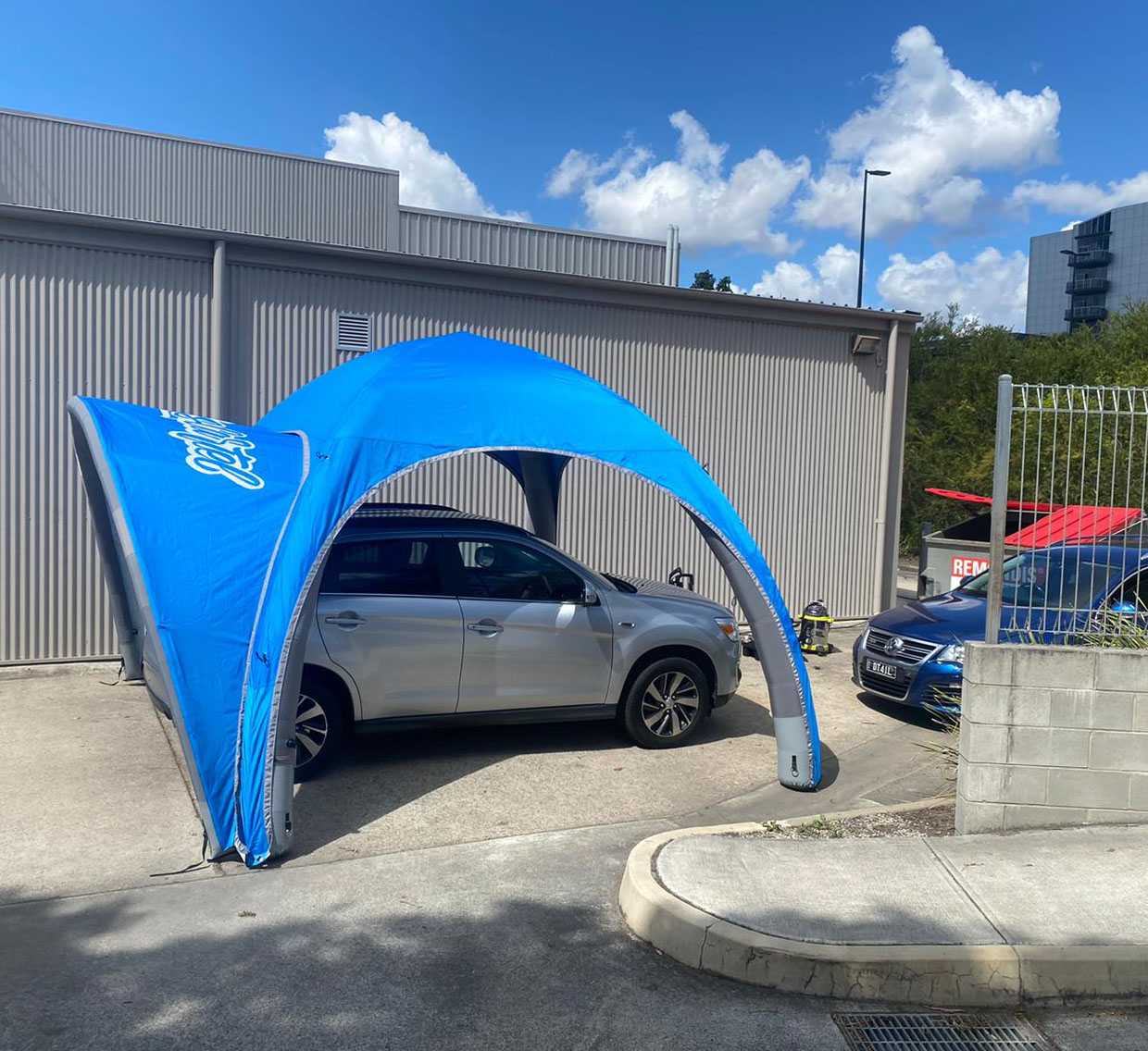 13x13ft Inflatable canopy tent, pop up trade show tent
