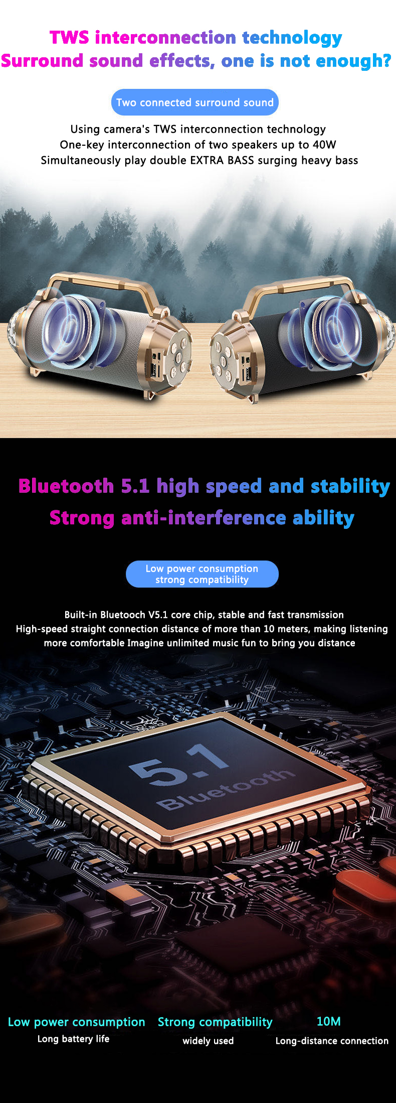 Portable Bluetooth Speaker Box Hifi For Mobile Phone/Computer Wireless Waterproof 2020 Amazon Top Seller Mini Speaker Bluetooth