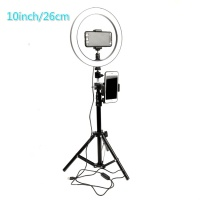 portable studio light 26cm 120led photo ring lamp with USB Charging /phone holder / tripod photography lighting video for beauty