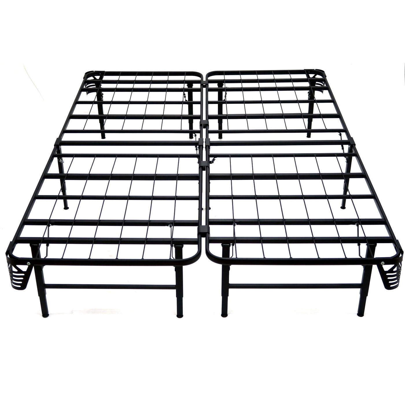 Easy To be Assembled Smart Platform Queen Metal Bed Frame Mattress Foundation 14 inches