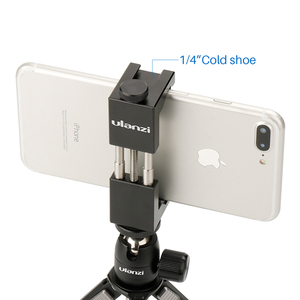 Ulanzi ST-02 Mobile Phone Tripod Mount With Cold Shoe, Compatible with Video Microphone for Youtube Vlog Video Maker