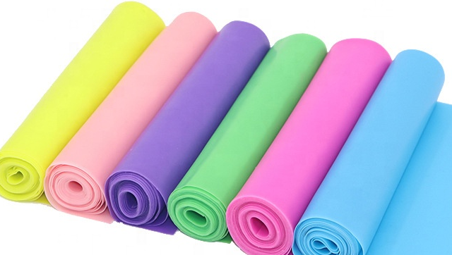Custom own logo Gym Fitness rubber stretch exercise resistance bands for yoga pilates